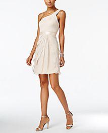 Adrianna Papell Lace Cap Sleeve Illusion Sheath Dress