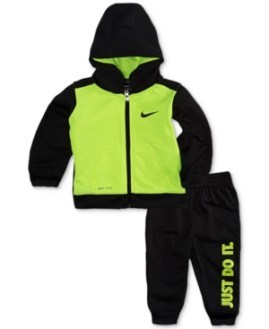 Nike 2Pc Therma Colorblocked Hoodie  Jogger Pants Set Baby Boys (024 months)