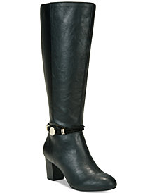 Karen Scott Galee Wide-Calf Dress Boots, Created For Macy's