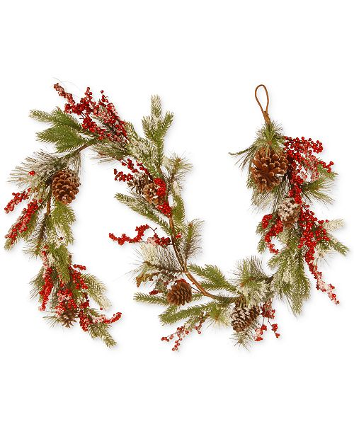 National Tree Company 6' Pine Cones & Berries Garland