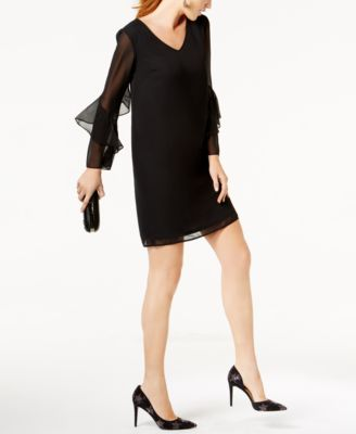 Michael Michael Kors Lace Mesh Fit Amp Flare Dress Dresses