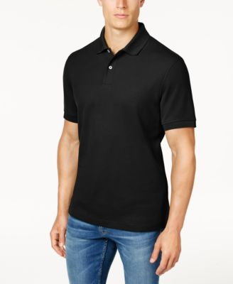 Image of Club Room Classic-Fit Short Sleeve Solid Estate Performance UPF 50+ Polo, Created for Macy's