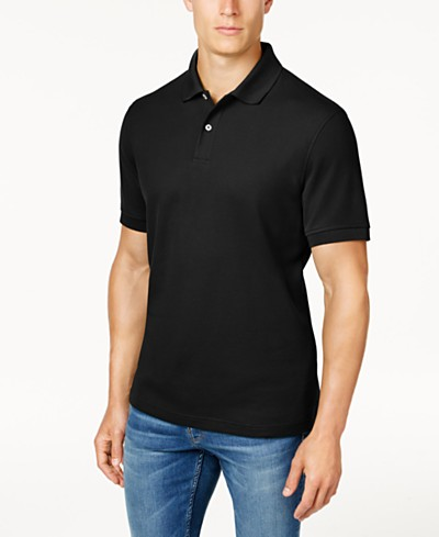 Club Room Classic-Fit Solid Estate Performance UPF 50+ Polo, Created for Macy's