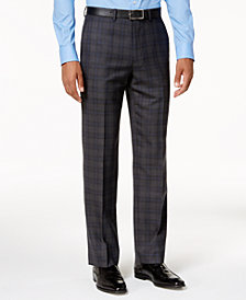 Ryan Seacrest Distinction™ Slim-Fit Gray & Blue Plaid Pants, Created for Macy's