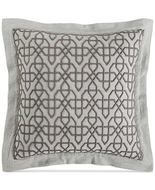 Hotel Collection Embroidered Fretwork 40 Square Decorative Pillow Mesmerizing Fretwork Decorative Pillow