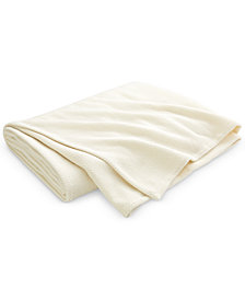 CLOSEOUT! Lauren Ralph Lauren Yasmine Cotton Herringbone King Blanket