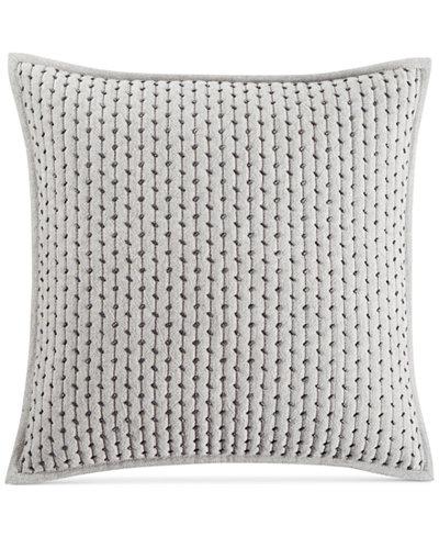 Hotel Collection Fretwork Pintucked Stripe 40 Square Decorative Magnificent Fretwork Decorative Pillow