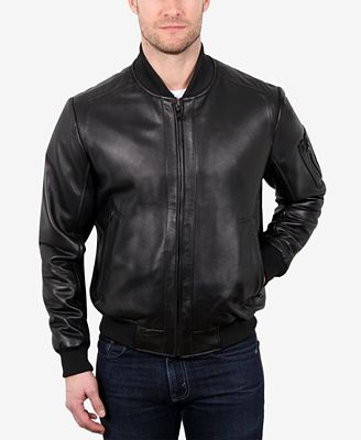WILLIAM RAST Men's Leather Varsity Baseball Jacket - Coats ...