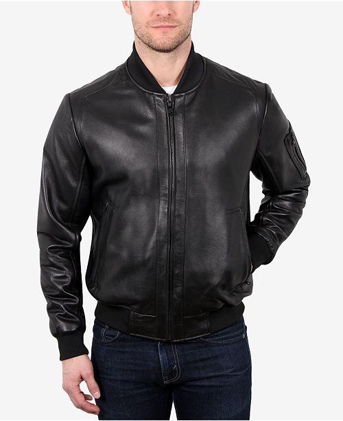 Men's Leather Varsity Baseball Jacket