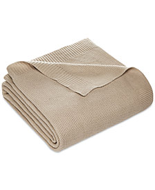 LAST ACT! Martha Stewart Collection Seed-Stitch King Blanket, Created for Macy's