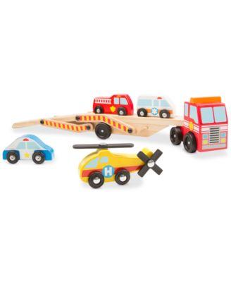 Melissa & Doug Emergency Vehicles Carrier Play Set