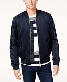 A|X Armani Exchange Men's Satin Bomber Jacket