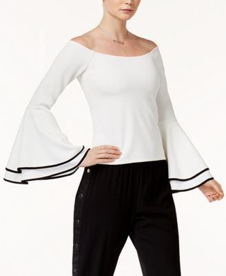 Bar III Off The Shoulder Bell Sleeve Top, Created For Macyu0027s