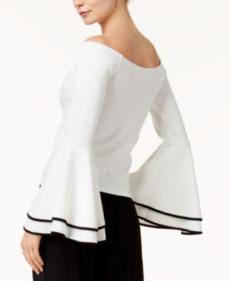 Bar III Off The Shoulder Bell Sleeve Top, Created For Macyu0027s   Tops   Women    Macyu0027s