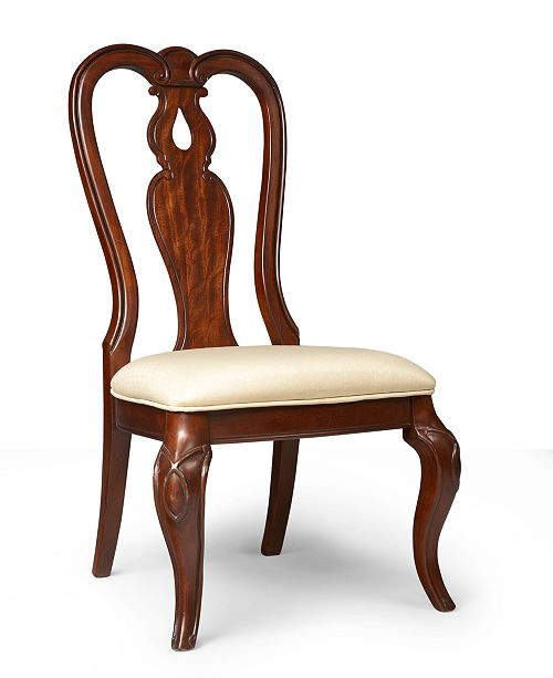Furniture Bordeaux Dining Chair, Queen Anne Side Chair, Created for Macy's