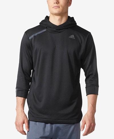 adidas Men's Essential 3/4-Sleeve Hoodie
