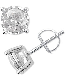 Diamond Stud Earrings (1-1/2 ct. t.w.) in 14k White Gold