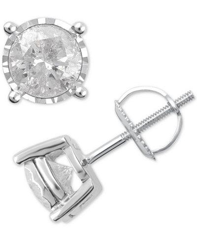 Diamond Stud Earrings (1-1/2 ct. t.w.) in 14k White Gold