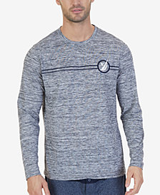 Nautica Men's Space-Dyed Logo Pajama T-Shirt