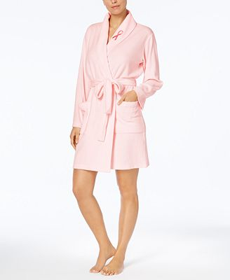 Charter Club BCRF Pink Ribbon Terry Robe, Created for Macy's