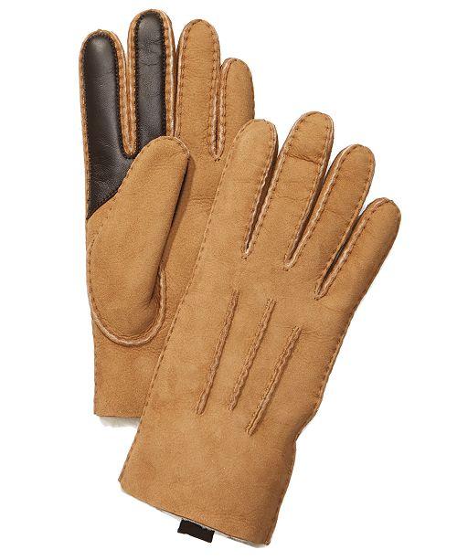 7824aee9af8331 UGG® Men's Sheepskin Touchscreen Compatible Gloves & Reviews - Hats ...