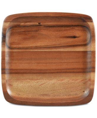 Serveware, Kona Wood Square Plate