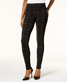 Petite Plaid Ponte Legging, Created for Macy's