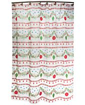 "CLOSEOUT! Dena Noelle 72""x72"" Holiday Shower Curtain"