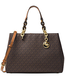 MICHAEL Michael Kors Signature Cynthia Medium Satchel