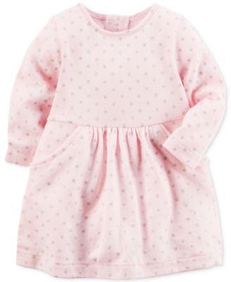 Carter's Fair Isle Cotton Sweater Dress, Baby Girls (0-24 months ...