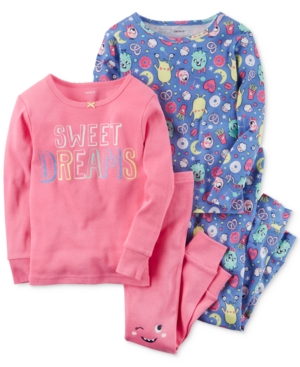 Carters 4Pc Sweet Dreams Cotton Pajama Set Baby Girls (024 months)
