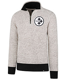 '47 Brand Men's Pittsburgh Steelers Kodiak Quarter-Zip Pullover