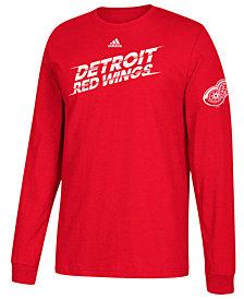 adidas Men's Detroit Red Wings Line Shift Long Sleeve T-Shirt