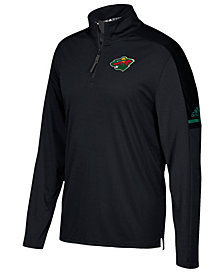 adidas Men's Minnesota Wild Authentic Pro Quarter-Zip Pullover