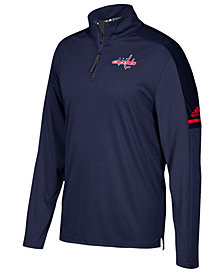 adidas Men's Washington Capitals Authentic Pro Quarter-Zip Pullover