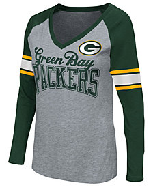 G-III Sports Women's Green Bay Packers In the Zone Long Sleeve T-Shirt