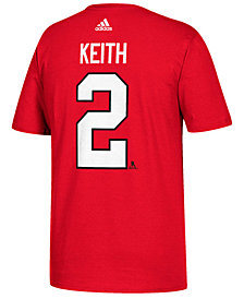 adidas Men's Duncan Keith Chicago Blackhawks Silver Player T-Shirt