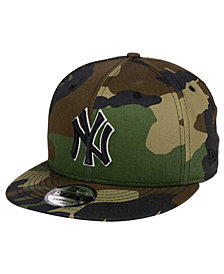 New Era New York Yankees Woodland Black/White 9FIFTY Snapback Cap