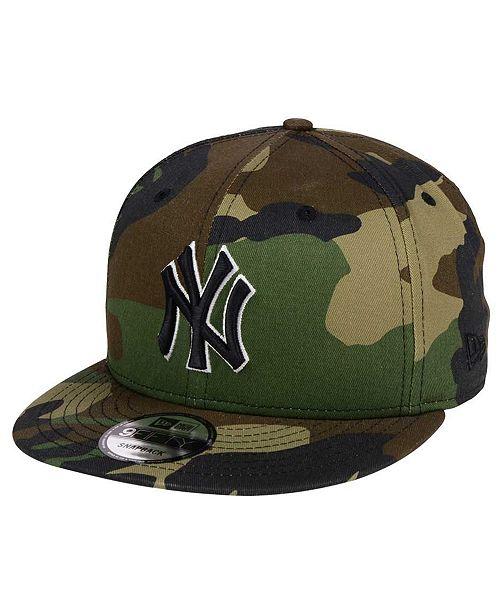 0485b7edc675c8 ... New Era New York Yankees Woodland Black/White 9FIFTY Snapback Cap ...