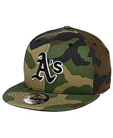 Oakland Athletics Woodland Black/White 9FIFTY Snapback Cap