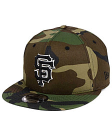 New Era San Francisco Giants Woodland Black/White 9FIFTY Snapback Cap