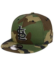 New Era St. Louis Cardinals Woodland Black/White 9FIFTY Snapback Cap