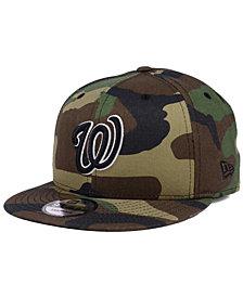 New Era Washington Nationals Woodland Black/White 9FIFTY Snapback Cap