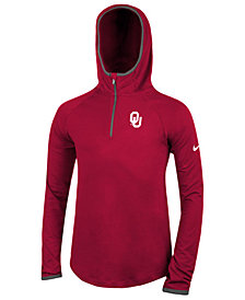 Nike Oklahoma Sooners Element Logo Zip Hoodie, Big Girls