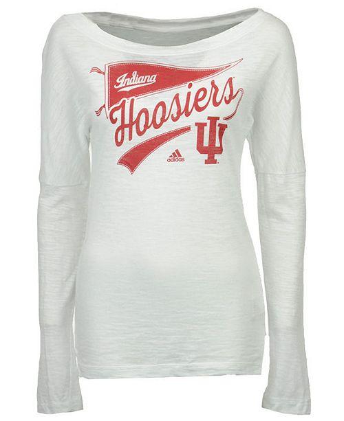 adidas Women s Indiana Hoosiers Pennant Pride Long Sleeve T-Shirt ... 8aadb8735