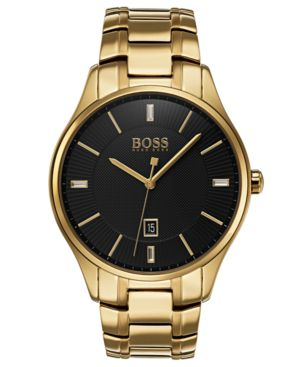 MEN'S GOVERNOR GOLD-TONE STAINLESS STEEL BRACELET WATCH 44MM