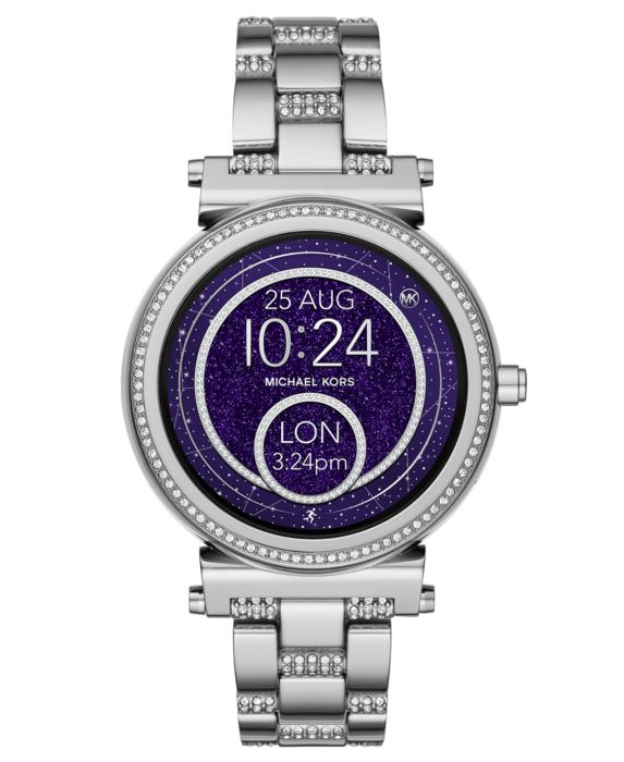NEW WOMENS MICHAEL KORS (MKT5036) SOFIE ACCESS SILVER TOUCHSCREEN SMART WATCH