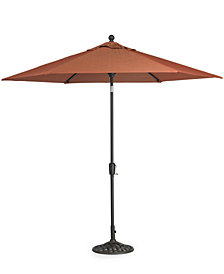 Chateau Outdoor 11' Umbrella & Base, Created for Macy's