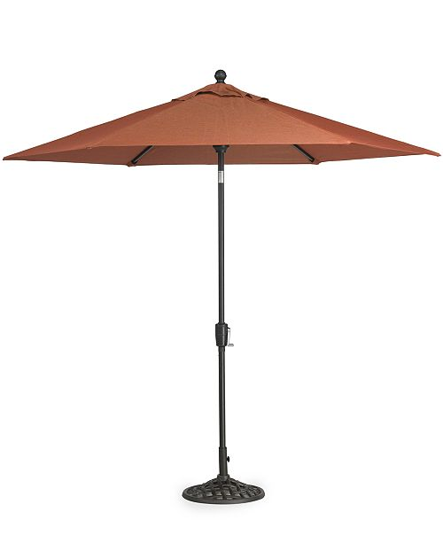 Furniture Chateau Outdoor 9' Umbrella & Base, Created for Macy's