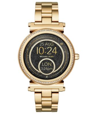 Access Women's Sofie Gold-Tone Stainless Steel Bracelet Touchscreen Smart Watch 42mm